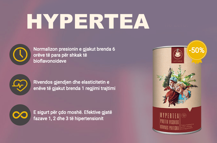 HYPERTEA Albanija - Çaj për Presion të Lartë Normalizon..